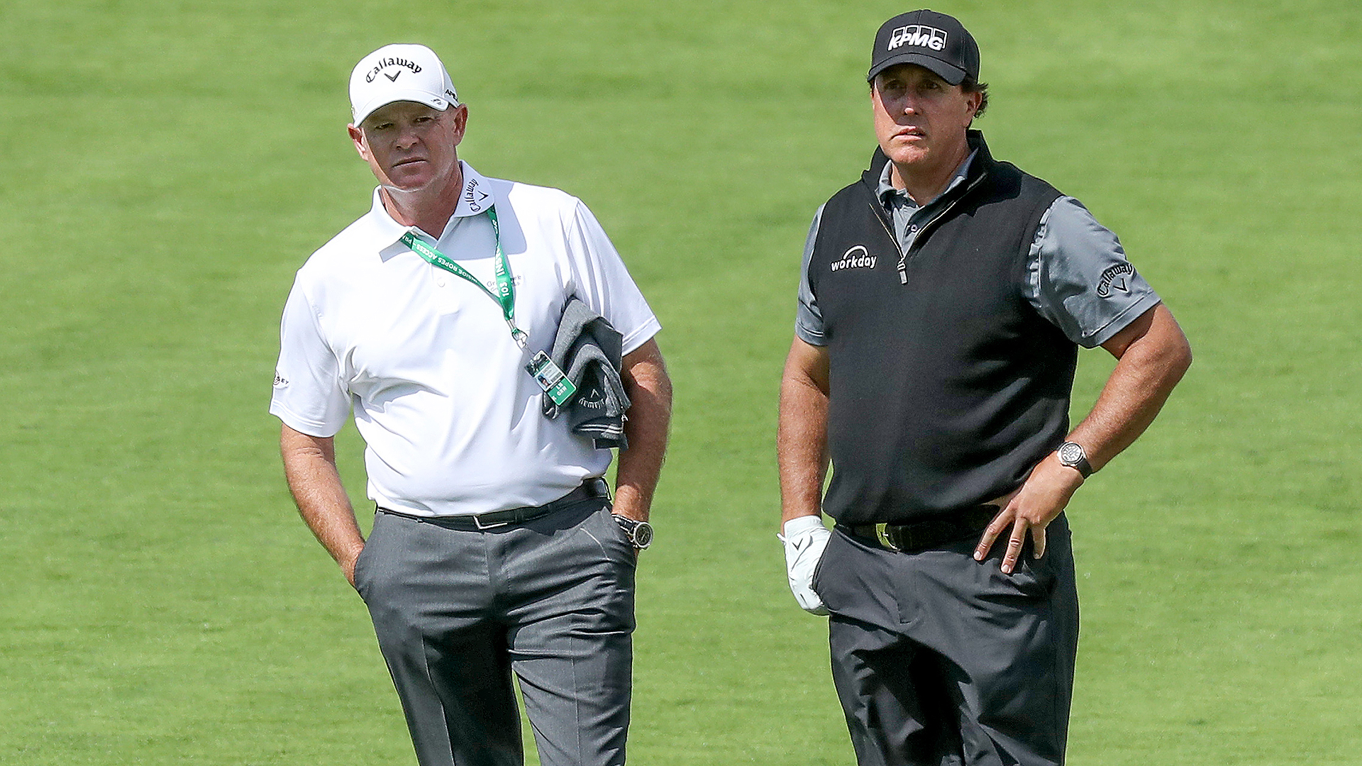Andrew Getson and Phil Mickelson
