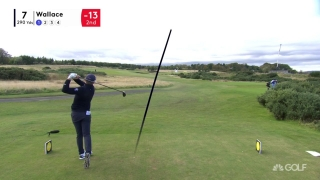 Wallace drops an eagle on the par-4 seventh at Scottish Champ
