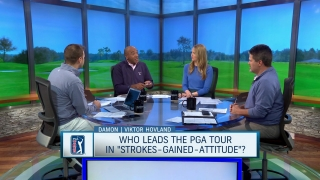 Who would lead PGA Tour in strokes gained-attitude?