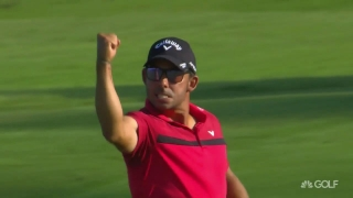 Highlights: Larrazabal (75) fights swing, blisters to win in South Africa