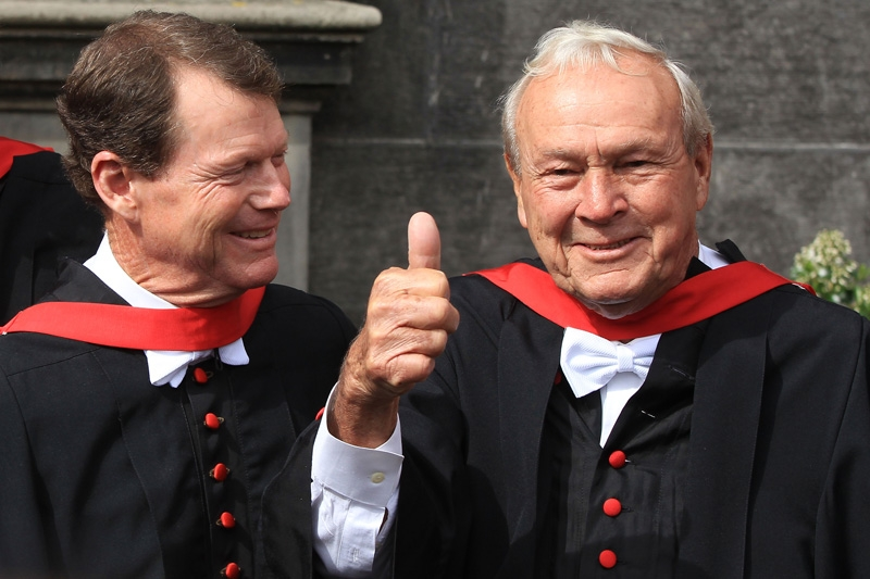 Tom Watson and Arnold Palmer
