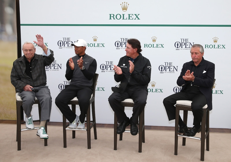 Arnold Palmer, Tiger Woods, Phil Mickleson and Gary Player