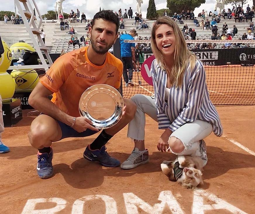 Belen Mozo and Robert Farah