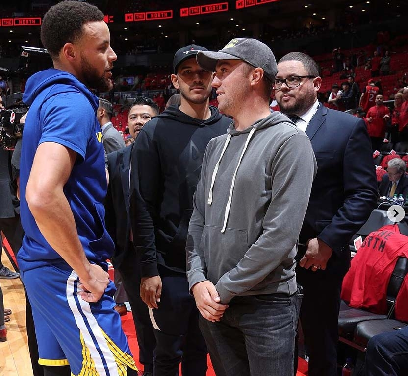 Steph Curry and Justin Thomas
