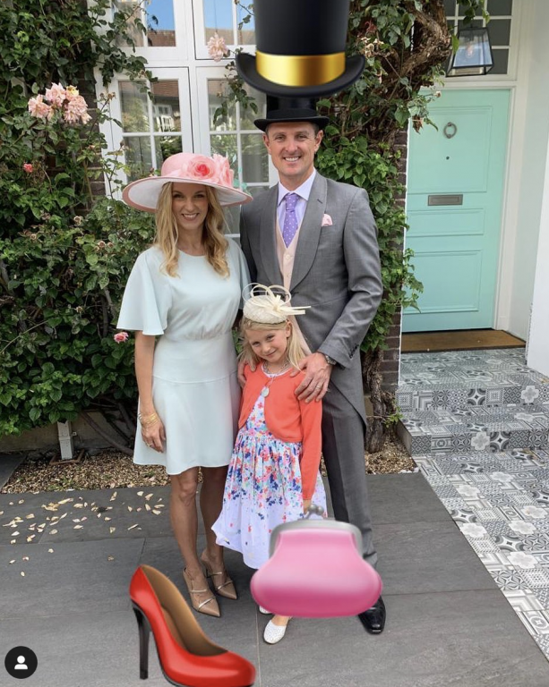Justin Rose and his family