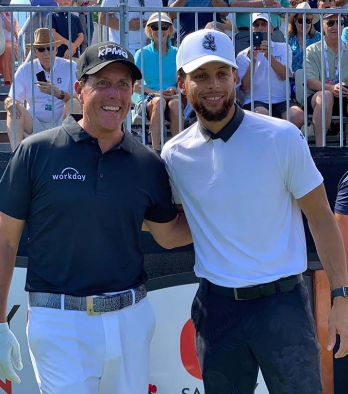 Phil Mickelson and Stephen Curry