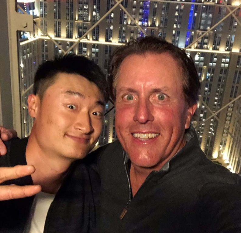 Phil Mickelson and HaoTong Li