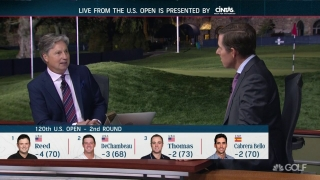 Who will be in U.S. Open mix on weekend at Winged Foot?