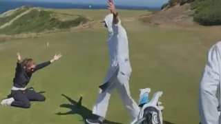 Grill Room: Watch this amazing hole-in-one with a putter!