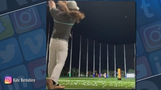 Grill Room: Watch Long Drive Champ Kyle Berkshire hit a ball as high as he can